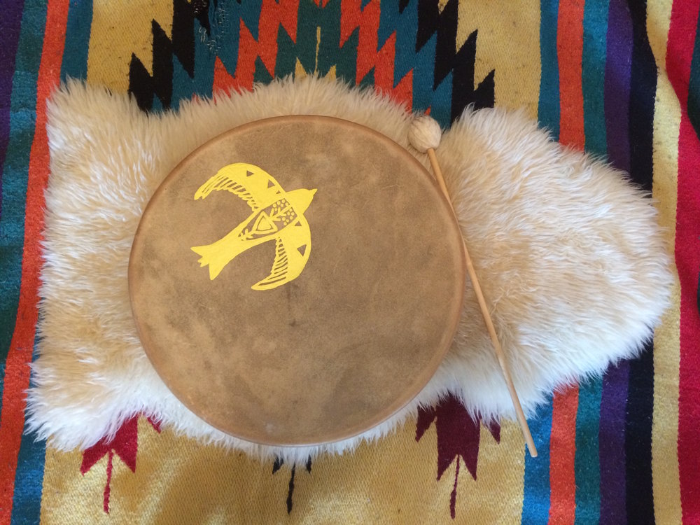 Shamanic drum, shamanic journeying offered by Courtney Wren Mabbutt, a therapist in Nelson, Castlegar, and the Slocan Valley.