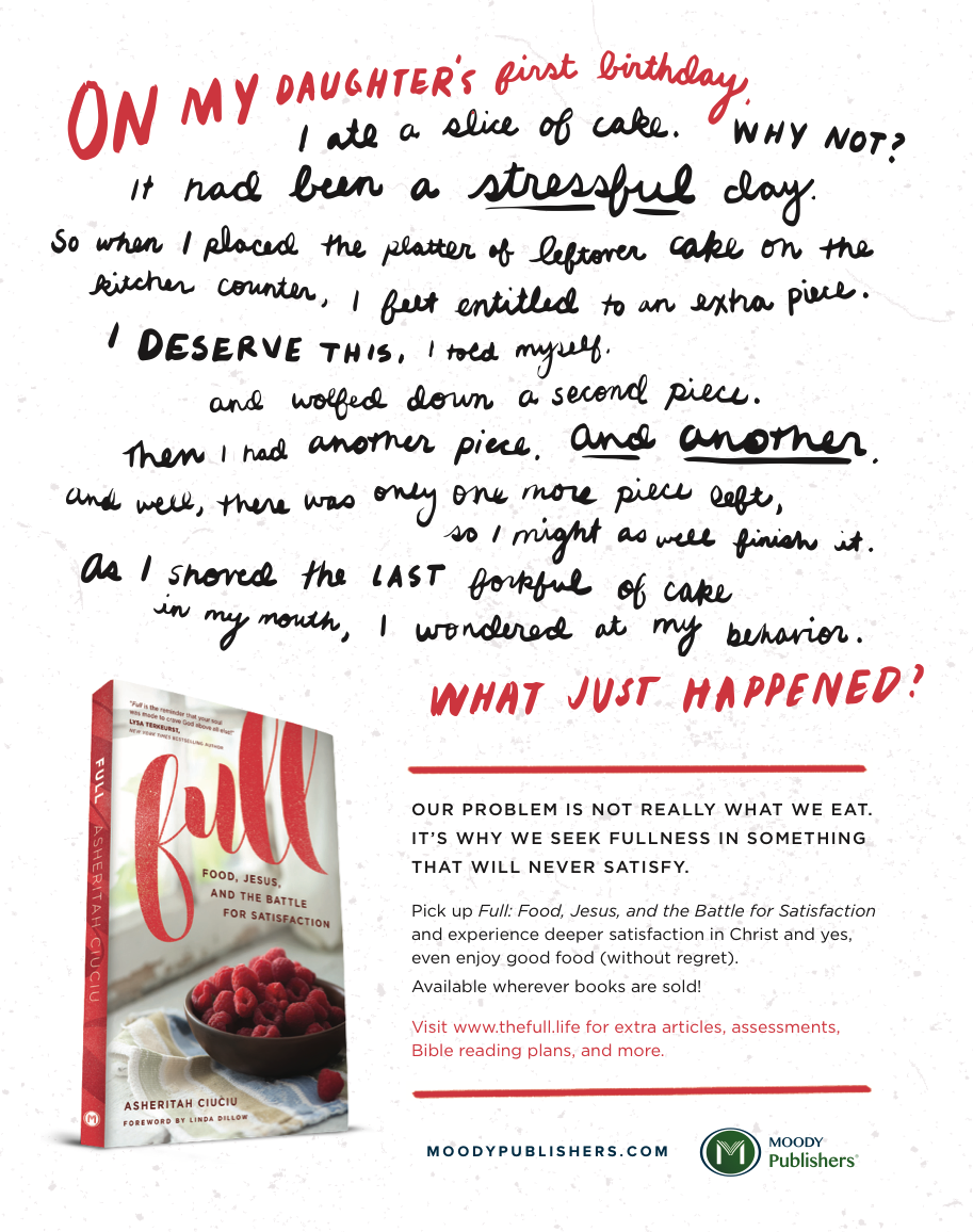 Magazine ad and lettering for Moody Publishers book  Full
