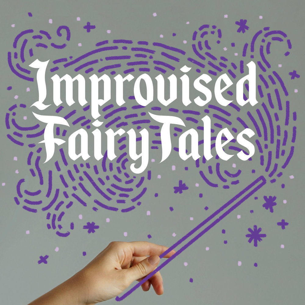A set of posters and social graphics for a multi-week run of Improvised Fairy Tales - a dream to photograph, design, and perform for!