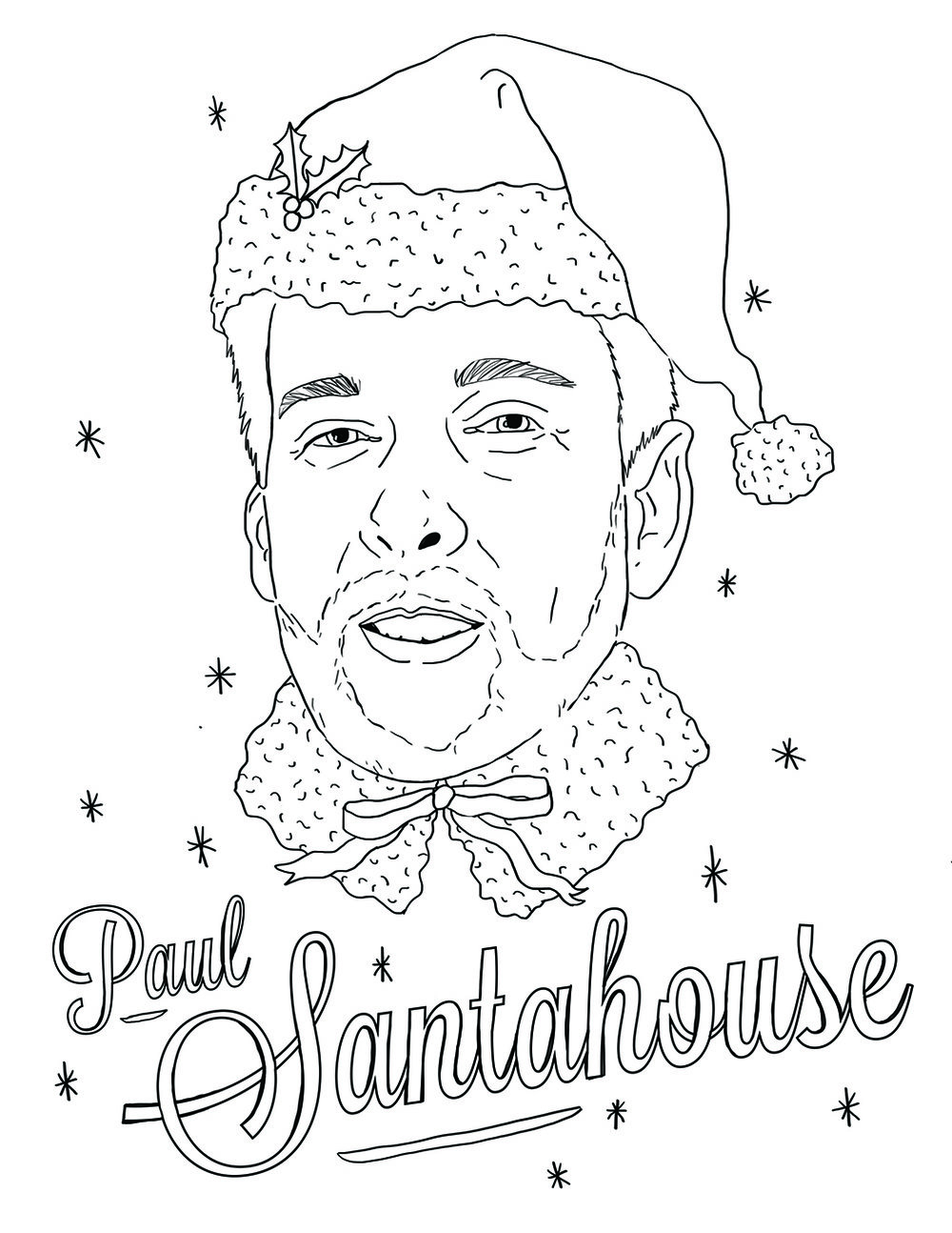 Coloring page of my boss