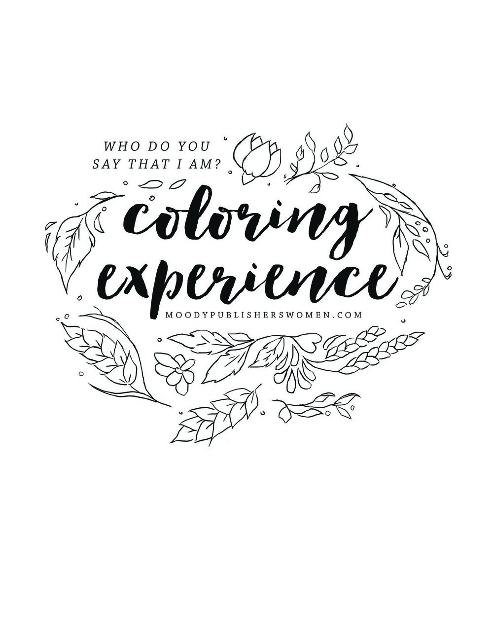 Art Direction: Who Do You Say That I Am? Coloring Pages