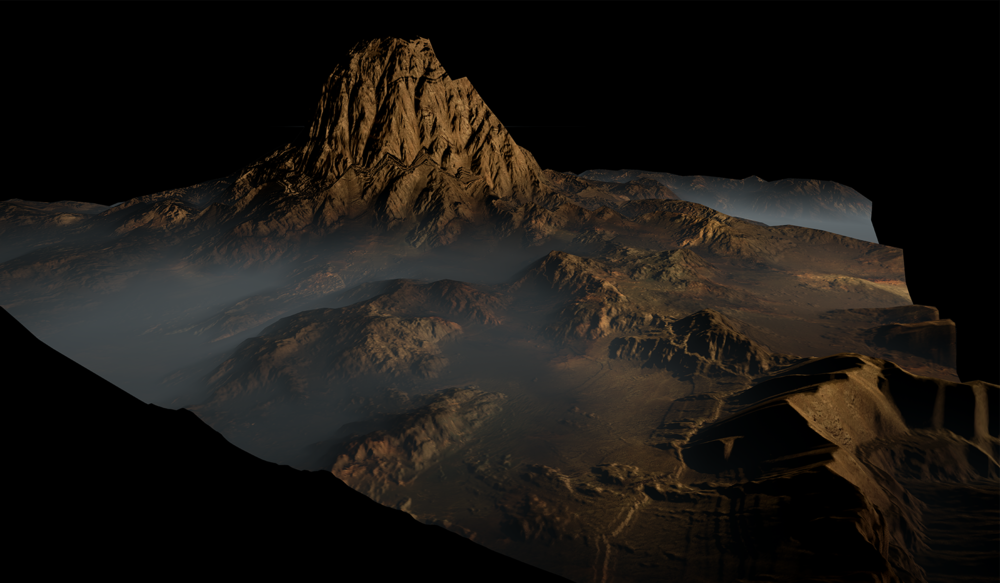 Landscape : Heightmap Terrain with World Machine rendered in Unreal Engine