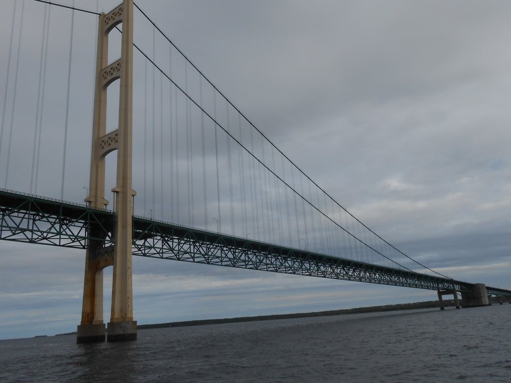 Mackinac Bridge connecting Michigan's Two peninsulas