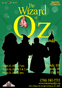 Wizard of Oz Ballet at River Raisin Centre for the Arts in Monroe