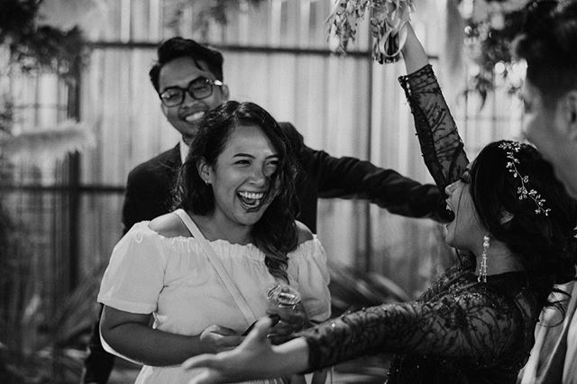 My favorite moment from a good friends' wedding, September last year. . It was one of the most intimate wedding reception I ever attend, and what made it even more special for me is that the bride was my first (and might be the last) client for bridal makeup. . I love how everyone enjoyed the party. We had real good laughs together and danced the night away. The kind of wedding I would want to have one day. Where our love can be felt by everyone who comes and left a reason to smile when they go back home. ❤️