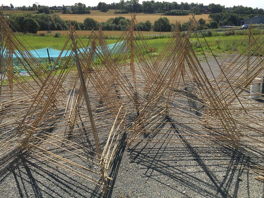 Bygging av tetraeder