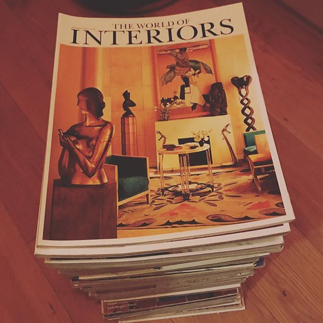 There's a lot of love in these magazines! @theworldofinteriors