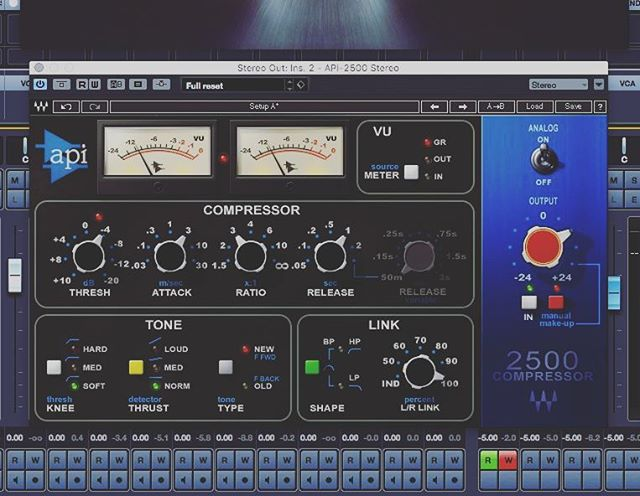Have been loving the Waves API 2500 over the past 6 months.  It's just beautiful for bus compression.  This and the Pultec style eqs have been on nearly all the music tracks I've been writing lately. Just amazing.