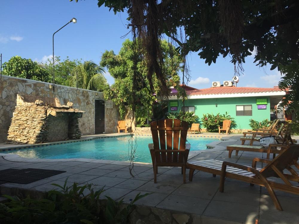 The pool at Hotel Los Chilamates.