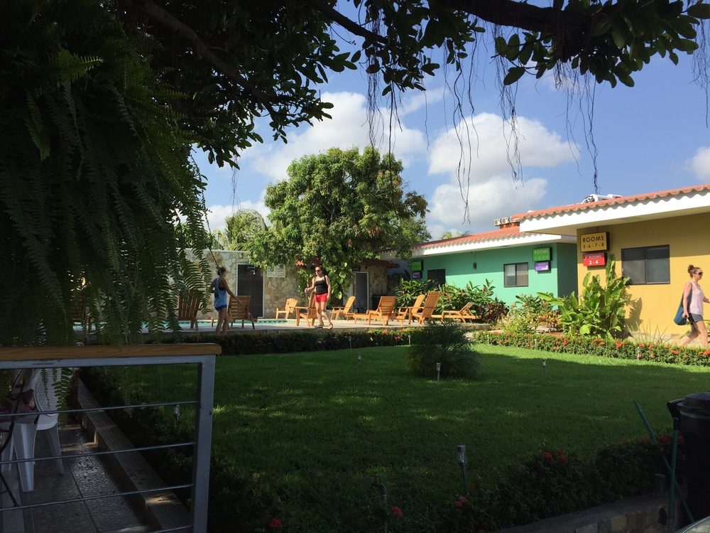 The courtyard at Hotel Los Chilamates.