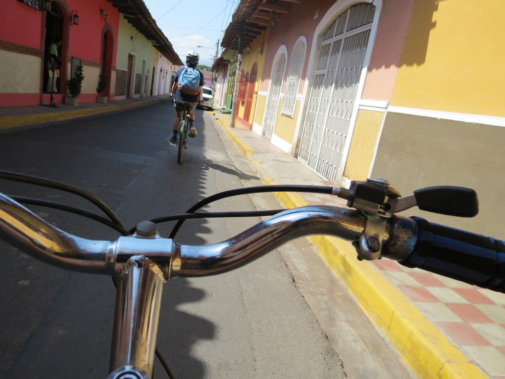 On our bicycle tour of Granada, Nicaragua.