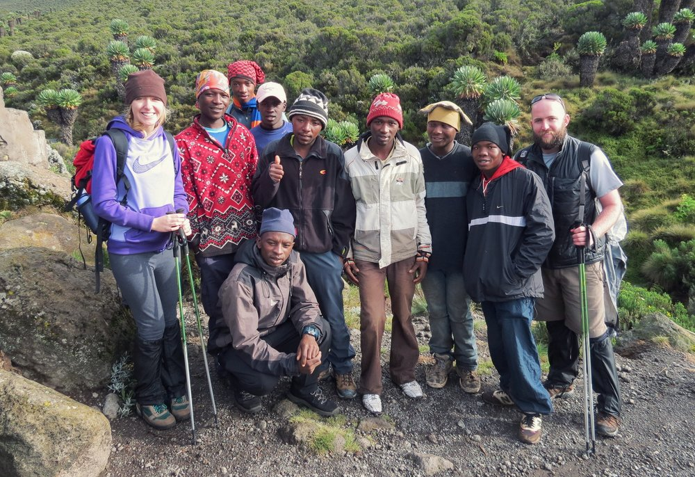 Our climbing crew on Mt. Kilimanjaro, December 30, 2012 – January 4, 2013.