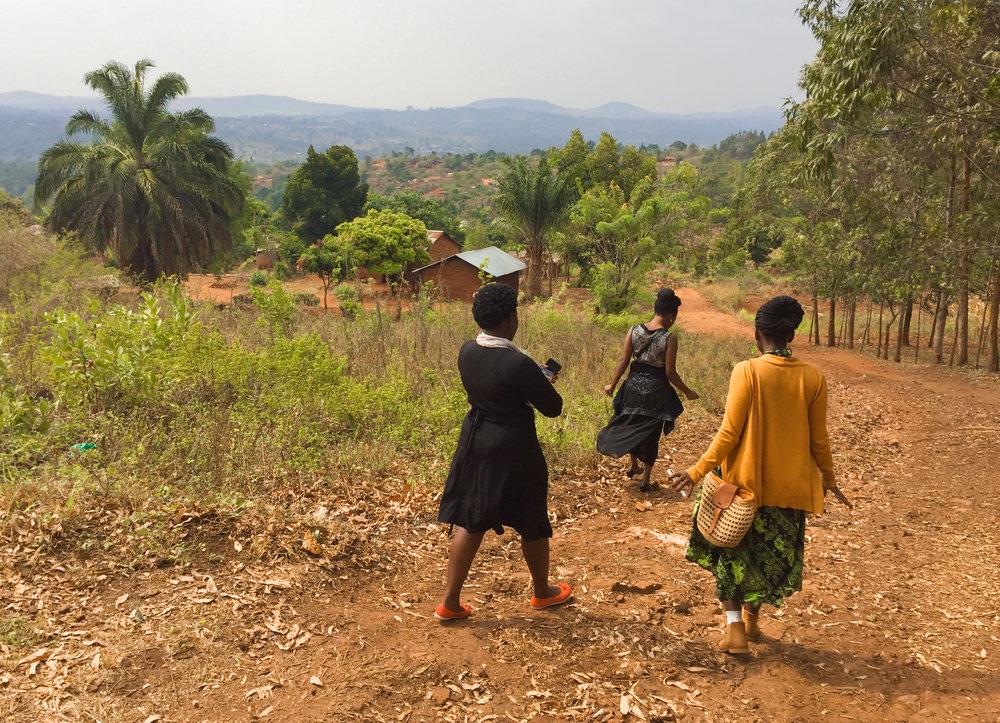 "Jackie, Rebeccah and Ruth always dress ""smart"" when we go to the village, or as Americans might say ""dress up."" Although we are typically covered in dirt by the end of our village visits, it is respectful in this culture to take the time to look nice before paying someone a visit."