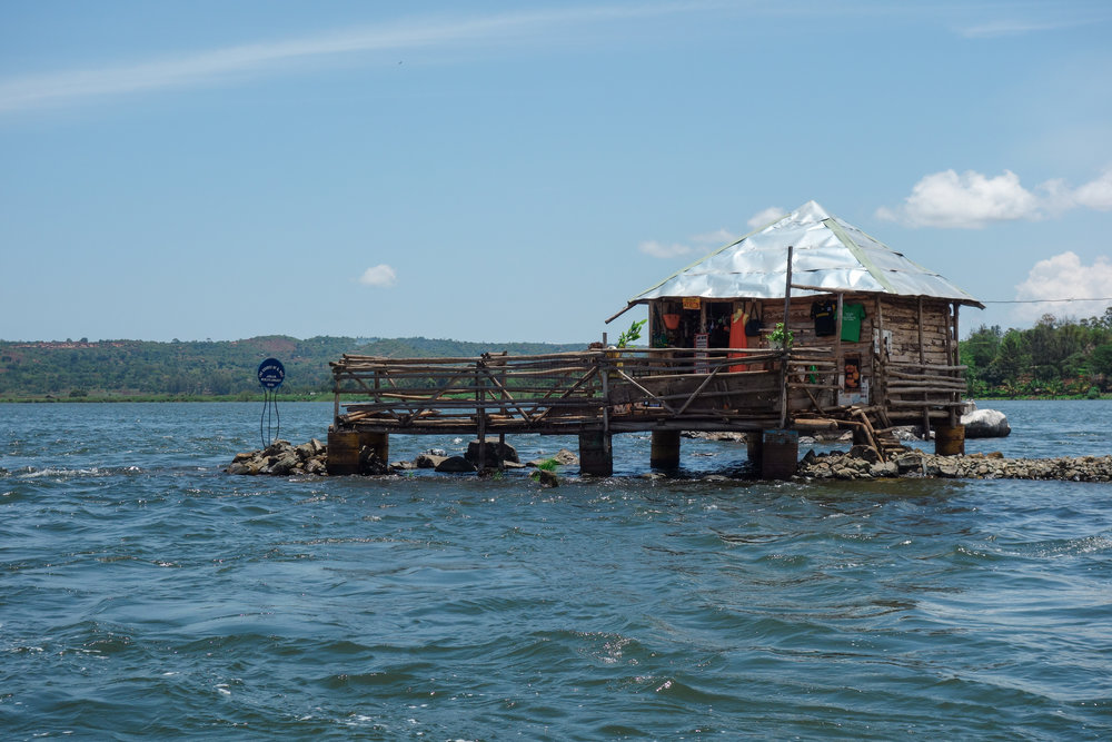 In 1858, British discoverer John Hanning Speke was the first to proclaim Lake Victoria as the source of the Nile River. Today, the tourist attraction features a gift shop on the water, accessible only by boat.