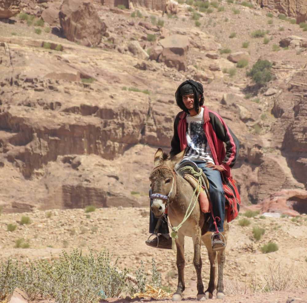 A Bedouin man who lives near Wadi Musa in Jordan.
