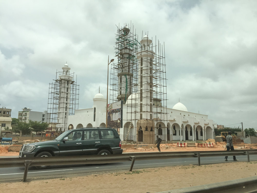 A nearby mosque under renovation.