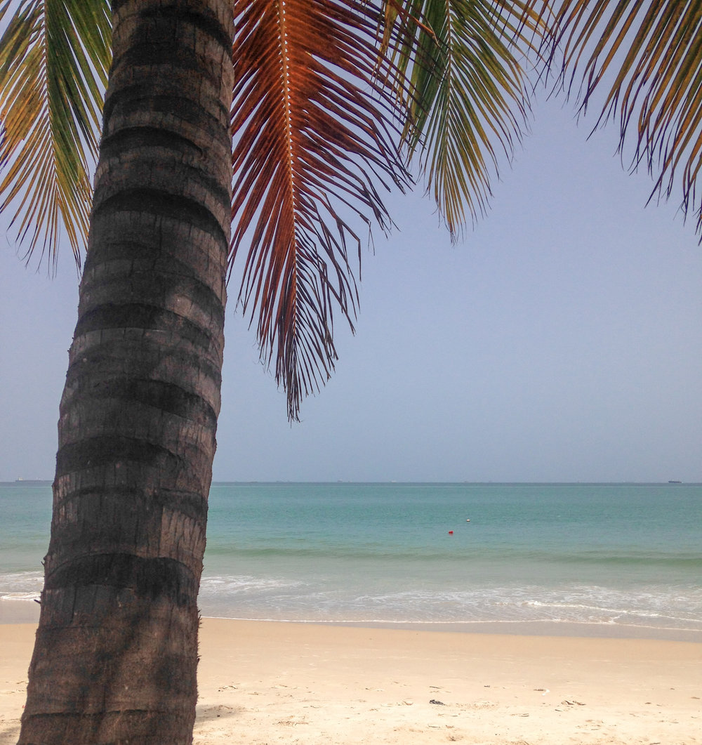 Calm, blue waters at Bel-Air Pointe–a favorite beach, only minutes from Dakar Academy.