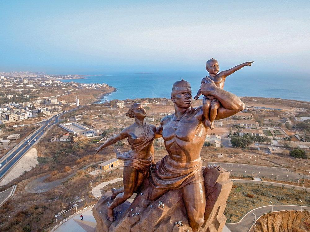 Things to do in Dakar, Senegal: visit the Africa Renaissance Statue.