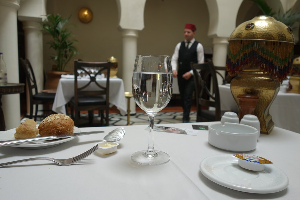 Enjoy Moroccan cuisine in the iconic Rick's Cafe from the movie, Casablanca .