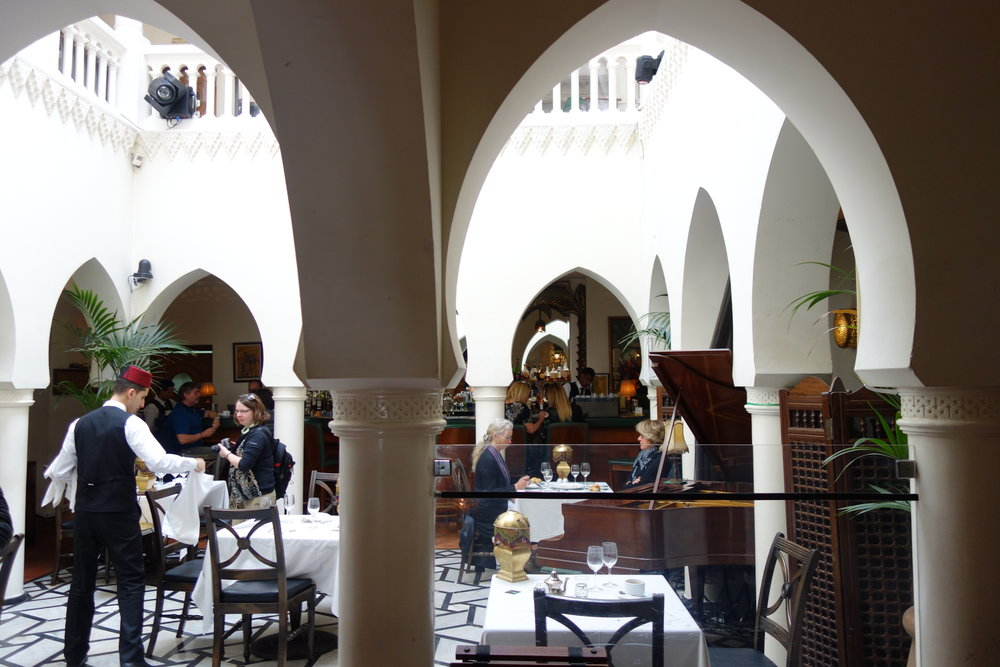 Places to eat in Morocco: Rick's Cafe in Casablanca.