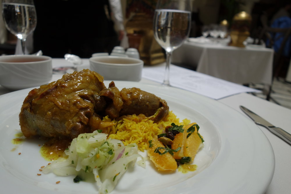 Our favorite: try the lamb shank with caramelized prunes at Rick's Cafe in Casablanca, Morocco.