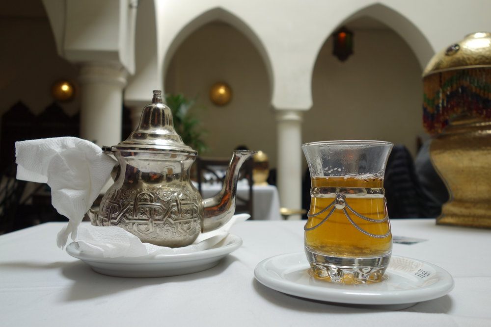 Things to do in Morocco: drink mint tea in a cafe.