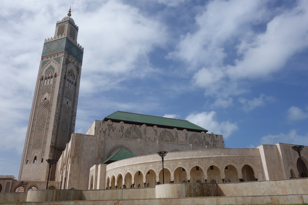 The Hassan II Mosque in Casablanca, Morocco, is one of the largest mosques in the world.