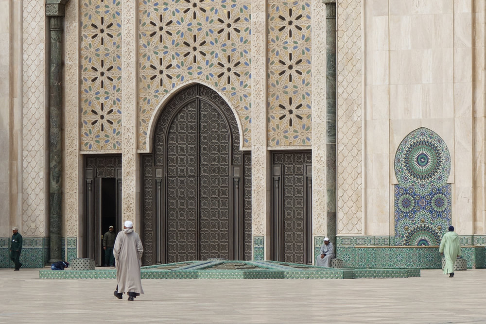 One of the most famous mosques in the world is in Casablanca, Hassan II Mosque.