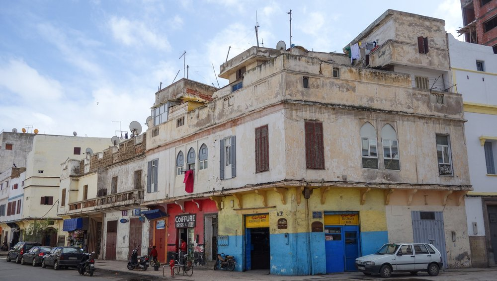 A snap shot of a regular neighborhood corner in Casablanca, just a few blocks from some of the city's top tourist areas.