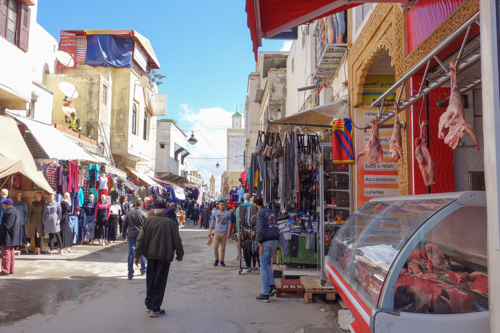 The medina in Rabat offers produce, meats, sweets, clothes, home décor, and more.
