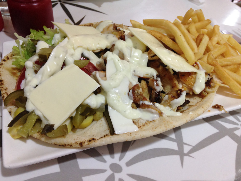 Kebab in Rabat, Morocco.