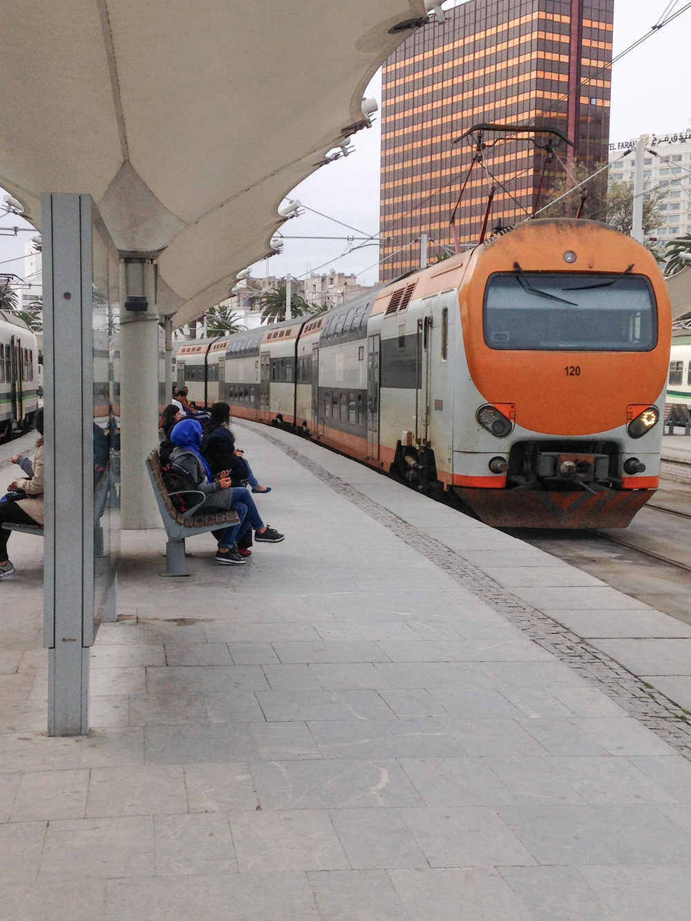 Trains are an economic and easy way to travel Morocco.