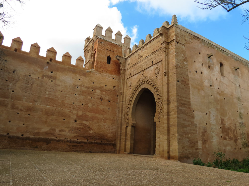 Visit ancient Roman ruins in Rabat, Morocco at Chellah—a Phoenician settlement later ruled by the Romans in 40 AD.