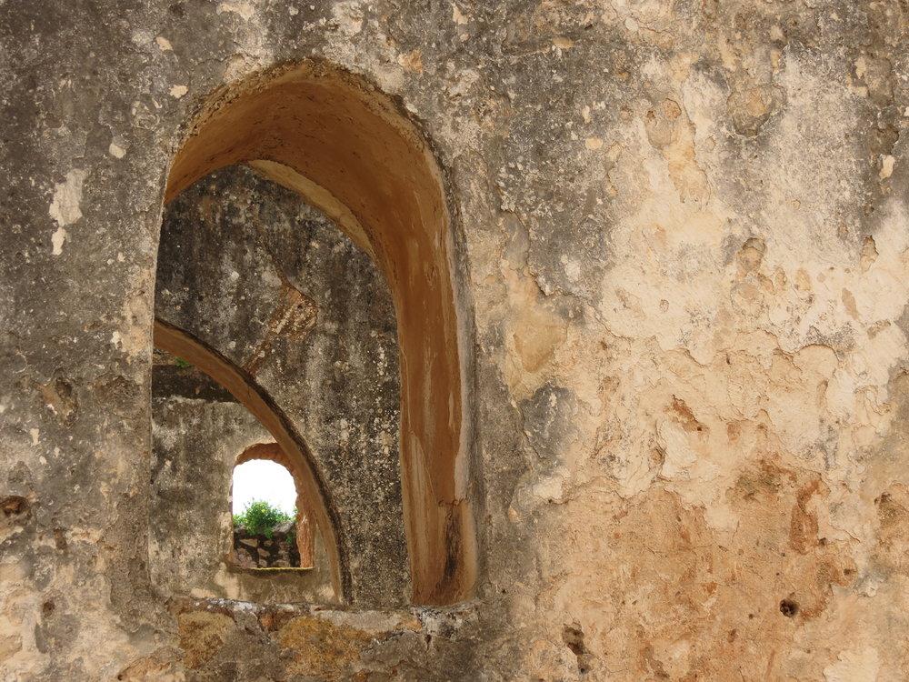 Windows in the Islamic quarter of Chellah, Rabat.