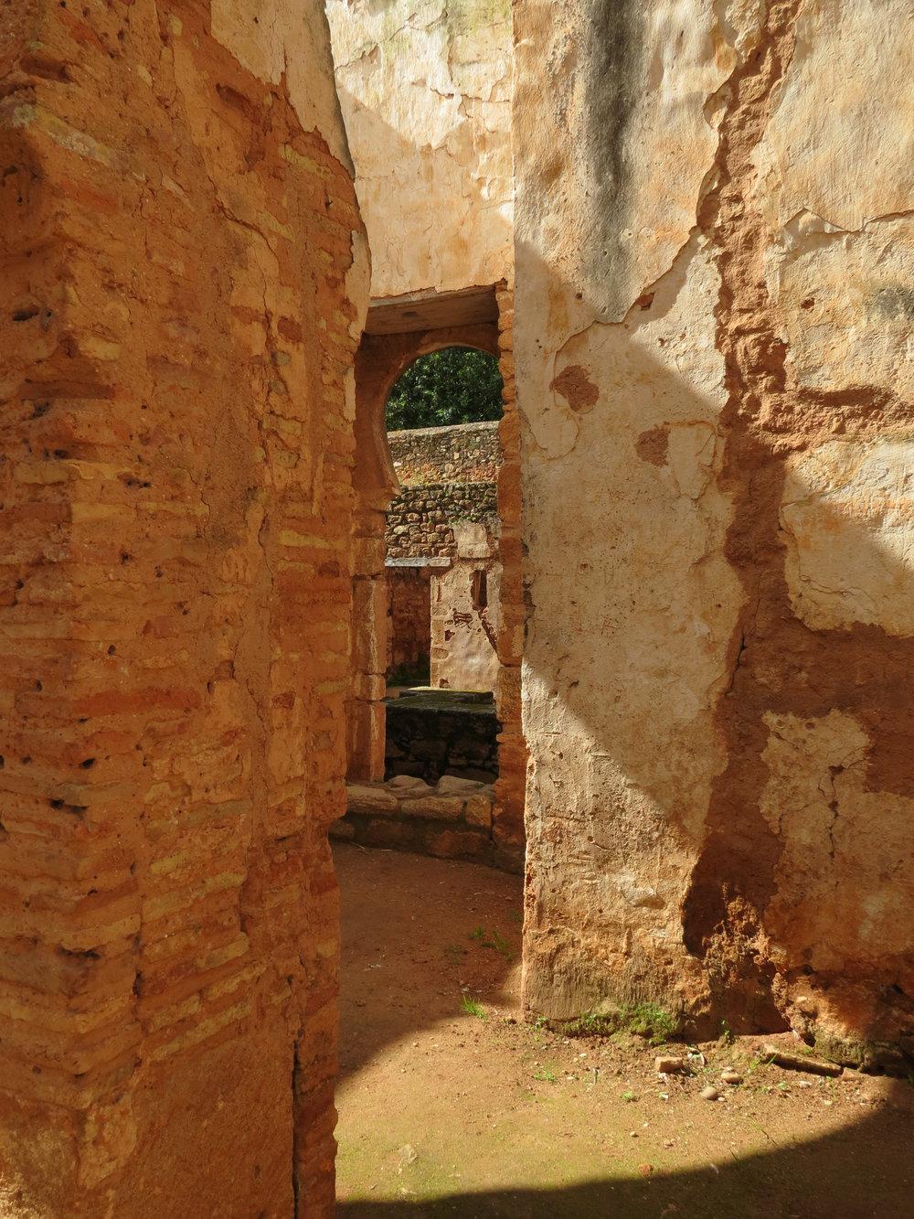 The ruins at Chellah, Rabat, Morocco.