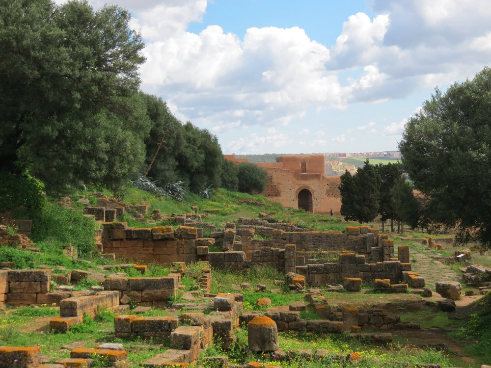 The Roman ruins at Chellah, Rabat, Morocco.