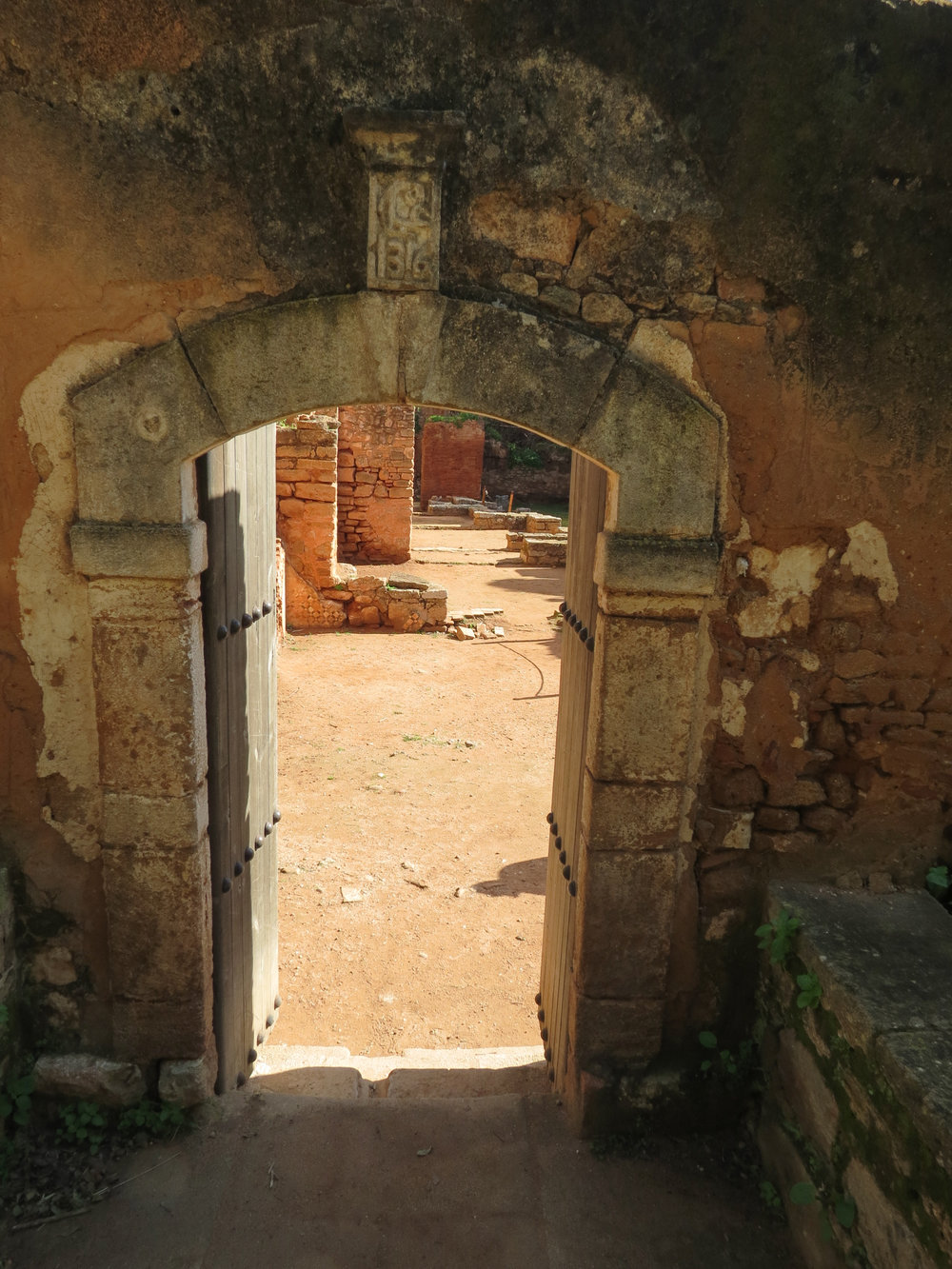 A doorway leading into the Islamic quarter at Chellah, Rabat.