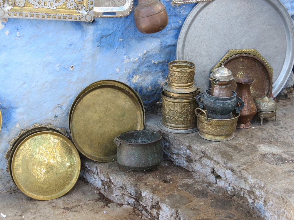 Moroccan serving and dinner ware, crafted by artisans in Rif Mountains.