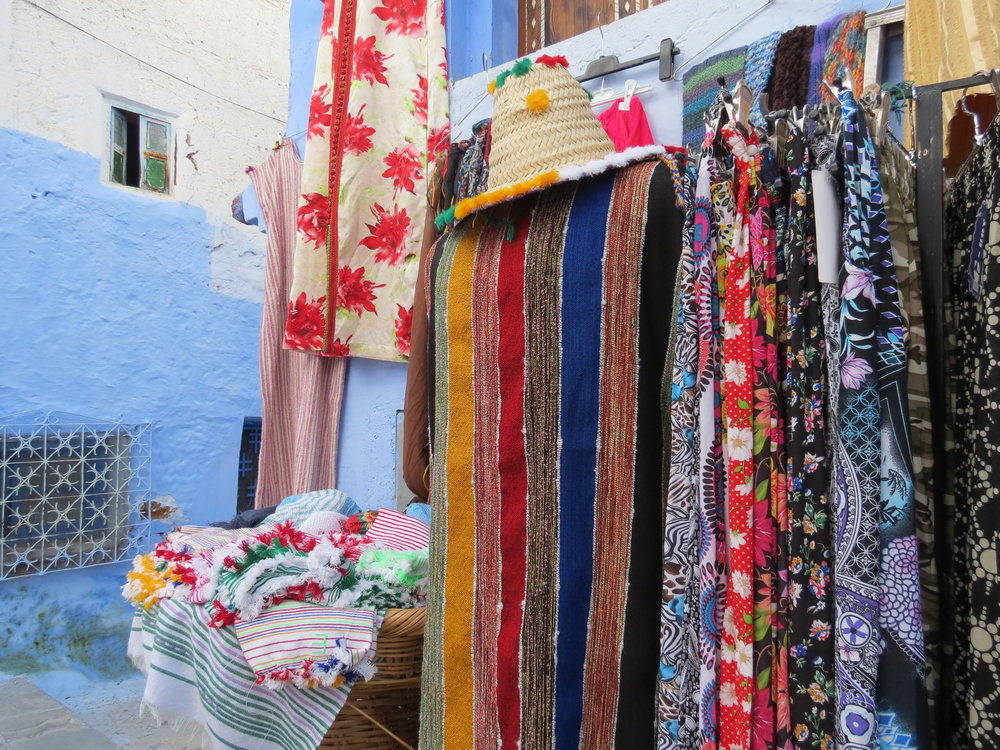 The medina at Chefchaouen could be described as a traditional souk, featuring artisan goods made from locals in the Rif Mountains.