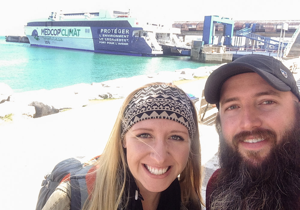 Gabriel and Sarah Sams, founders of the White Blank Page, on their excursion from Morocco to Gibraltar.