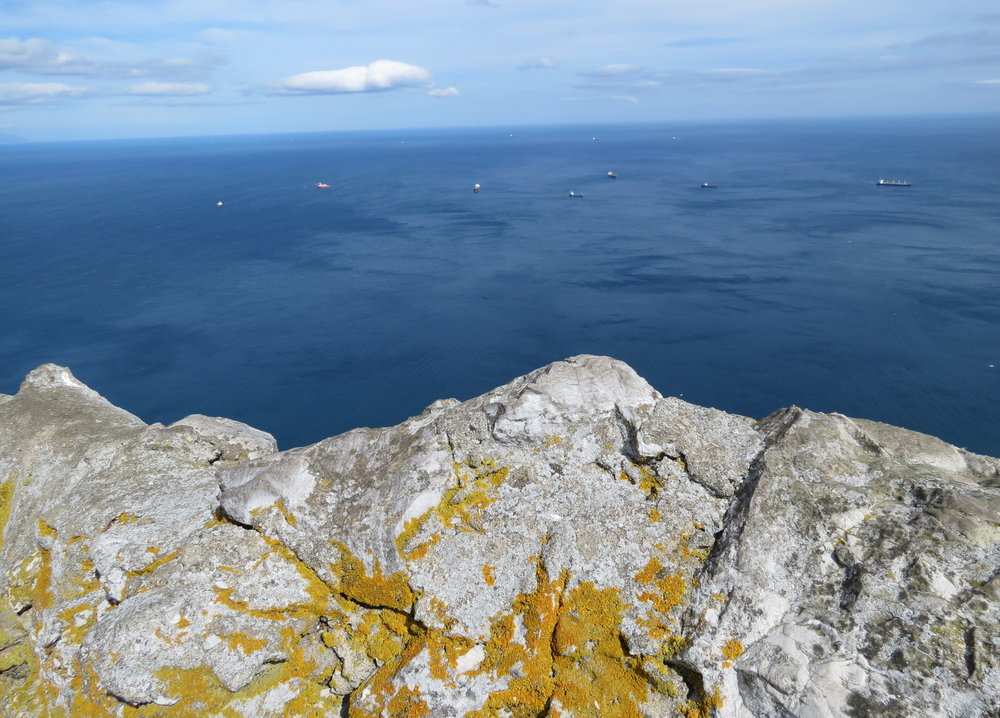 A view of the Atlantic from the Rock of Gibraltar.
