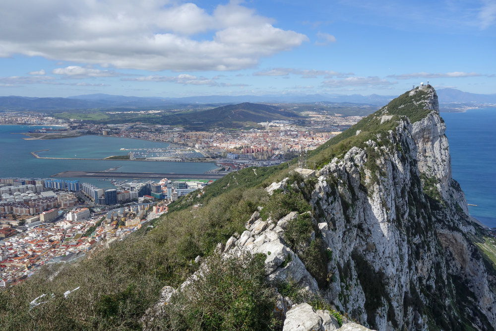 The Rock of Gibraltar, a British Territory in Southern Spain.