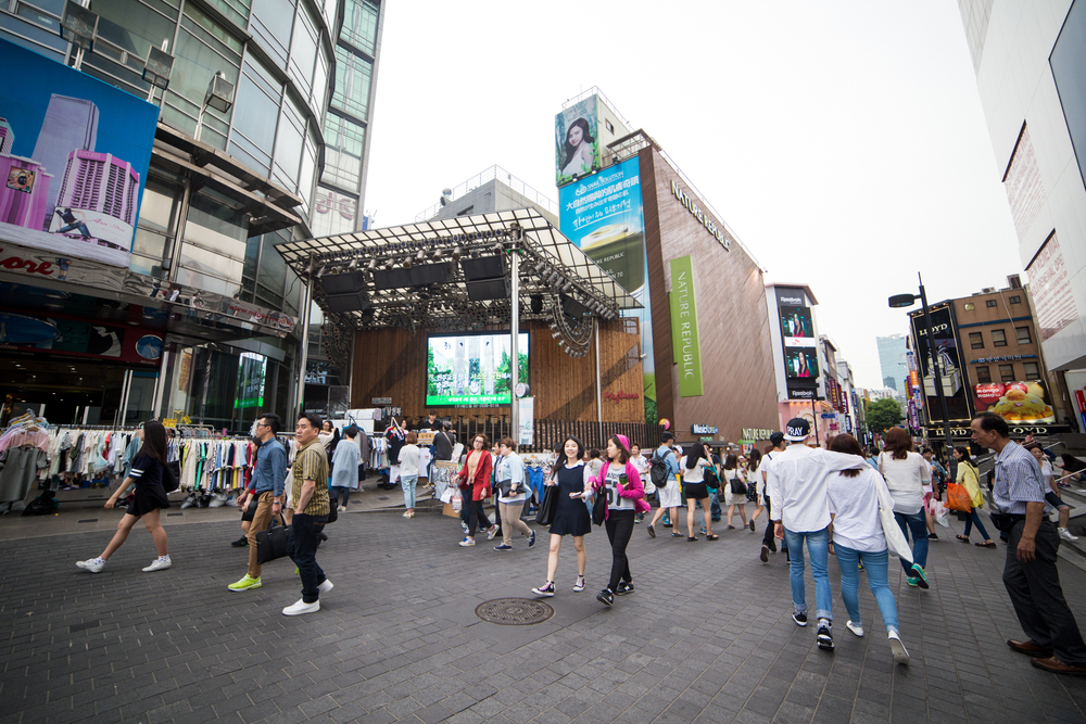 Ended the day in busy Myeong-dong for some quick shopping