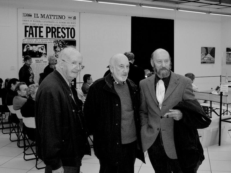 con Mario De Biasi e Gianni Berengo Gardin, Fondazione Mazzotta, Milano, 2007