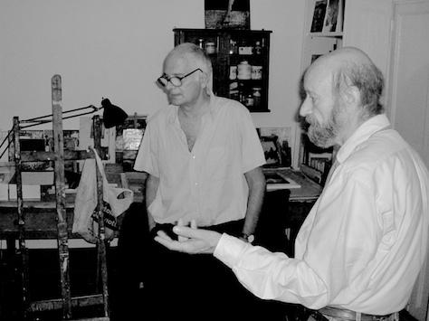 con Ruggero Savinio nel suo studio, 2006