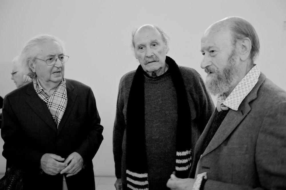con Vasco Bendini e Luigi Boille, Complesso Monumentale del Vittoriano, Roma, 2012
