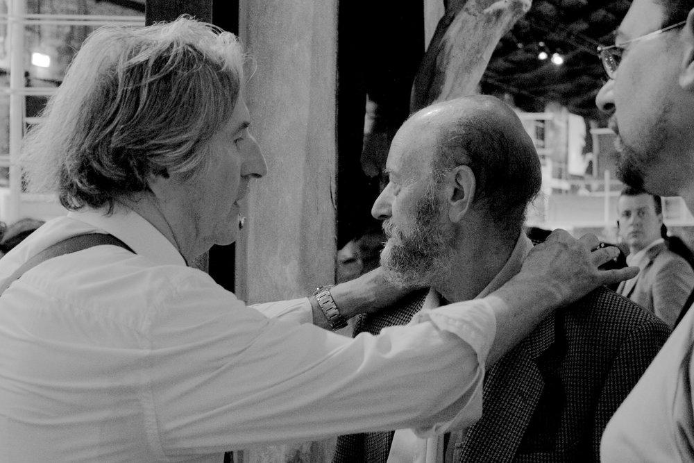 con Giorgio Di Genova e Daniele Mariani, Biennale di Venezia, 2011