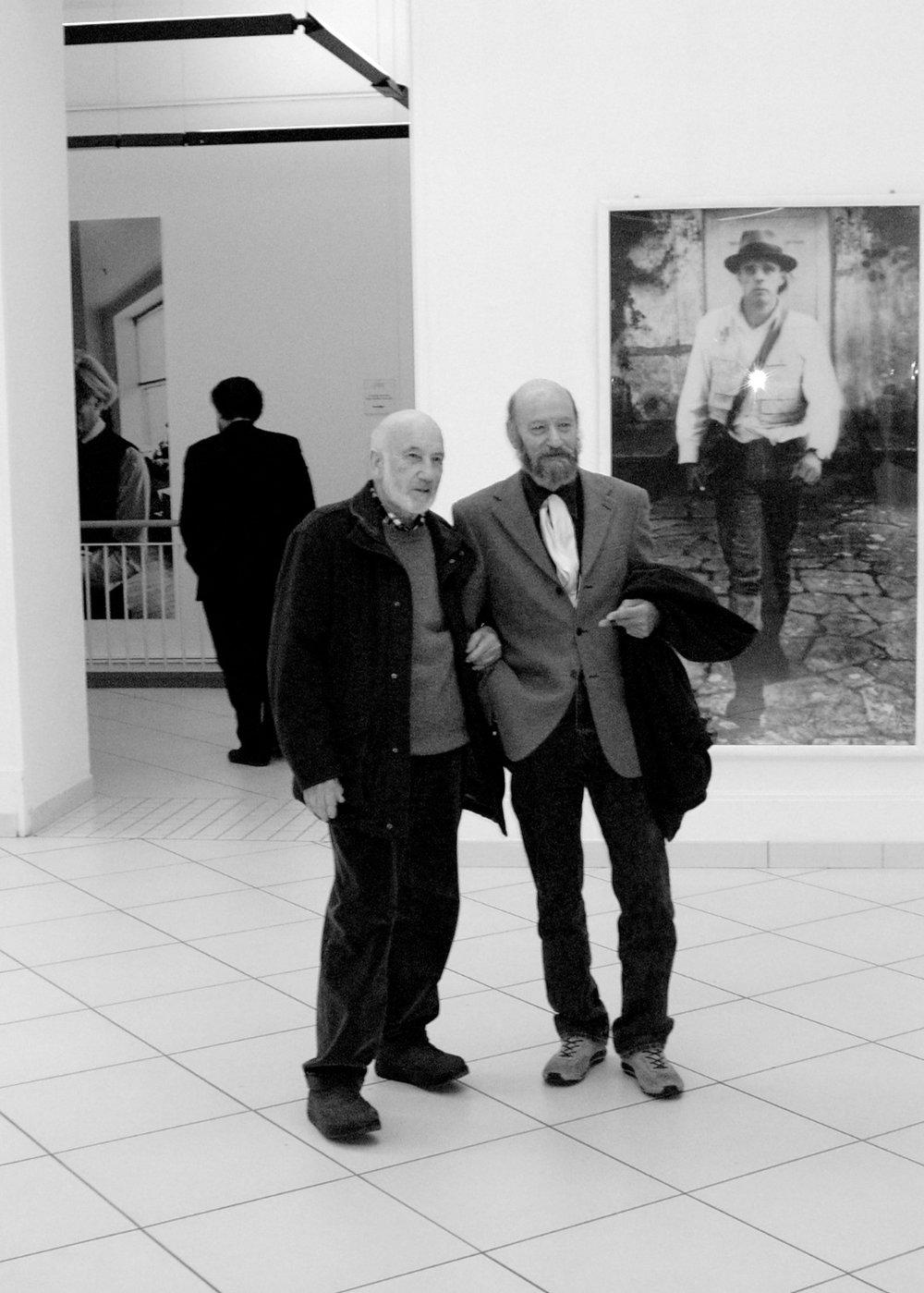 con Gianni Berengo Gardin, 2008