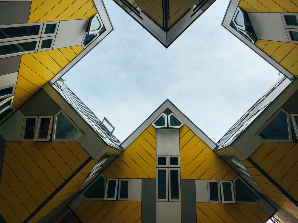 The visionary Cubic Houses near Blaak Station were already build in the 1970s.