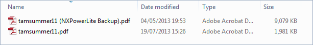 NXPowerLite overwrite original file
